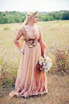 Wedding dress Titianic era Inspired latte by RetroVintageWeddings, $989.00