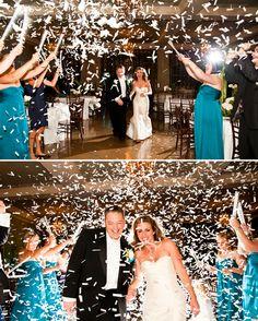 Fun wedding send off! Photo by Cory Ryan Photography http://www.weddingwindow.com/blog/2012/05/21/real-wedding-alison-sean/
