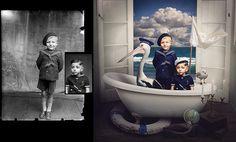 Históricas fotos de Rumania son restauradas y transformas en arte moderno