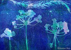 Herb Art, Cow Parsley, Ready To Pop, Unique Photo, Landscape Art, Flower Prints, Shades Of Blue, Collage Art, Unique Gifts