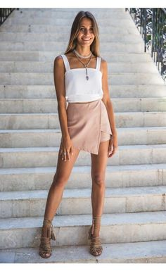 Nude Skirts - Shop Now - Envelope Skort Nude