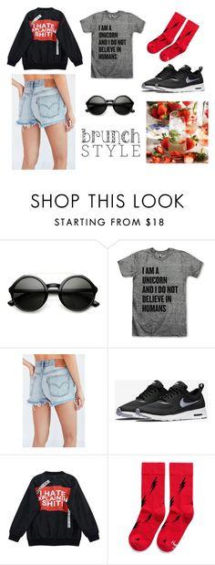 """Brunch Style"" by marianvirtua on Polyvore featuring moda, Levi's, NIKE, Chicnova Fashion y Happy Socks"