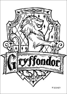 Coloriage Harry Potter : Le blason de Gryffondor …