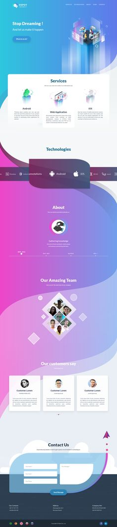 DSPOT - Web 2.0 on Behance