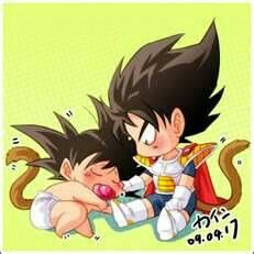 Chibi Goku and Vegeta by TrunksFanGirl09
