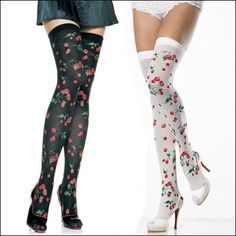 thight high printed tights, these are cheesy but you get the idea