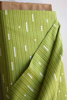 Organic Abacus in Grass - Mod Basics Collection from Birch Fabrics