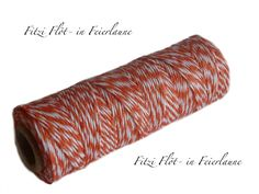 Bäcker-Garn Bakers Twine orange von Fitzi Flöt auf DaWanda.com