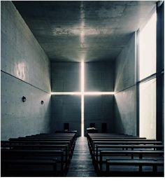 "TADAO ANDO, CHURCH OF THE LIGHT: ""considerable care is taken to see that the walls are as perfect as technique will allow. these walls are thick, solid, massive, and permanent . the main reinforced concrete shell of the church of the light is 15 inches thick."""
