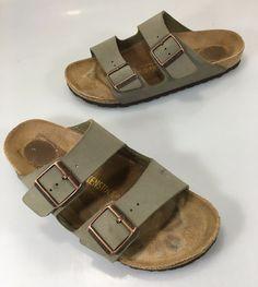 Birkenstock Arizona Womens 8US 38EU Narrow Gray Leather Slide Sandals…