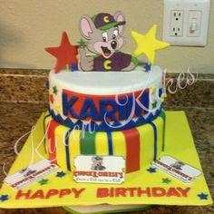 Chucky Cheese Birthday Party, Chuck E Cheese Birthday, Cheese Party, 5th Birthday, Happy Birthday, Birthday Cake, Chuck E Cheese Cake, Cheese Cupcake, Cupcakes
