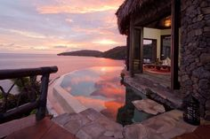 """Laucala Island Resort, #fFiji pretty sure this is what they mean when they say """"romance."""" #sunset"""