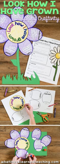 """Look How I Have Grown! Students reflect on their growth over the past year by writing and drawing about what they """"know, understand, can do and are"""". This is the perfect spring craft for your classroom."""