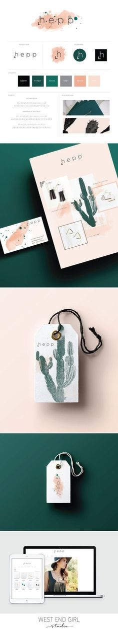 Branding inspiration for small businesses. Cactus branding, logo design, and web design. Layout Design, Site Web Design, Graphisches Design, Logo Design, Poster Design, Brand Identity Design, Graphic Design Branding, Design Color, Brand Design
