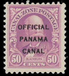 Canal Zone, Official, 1941, 50¢ lilac, type I (Scott O7)