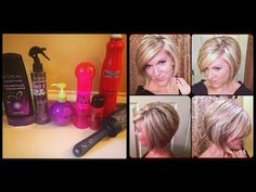 ▶ How I style my hair -- Inverted or Stacked Bob - YouTube LOVE HER HAIR