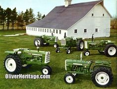 Oliver 1250, 1550, 1650, 1850, 1950! We know..... Oliver OVERLOAD! (Better Farming - 1966) Antique Tractors, Vintage Tractors, Old Tractors, Vintage Farm, White Tractor, Tractor Farming, Pig Farming, Tractor Photos, Tractor Implements