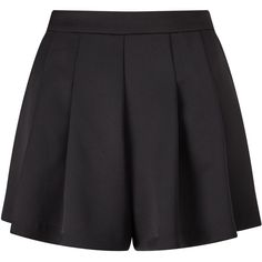 Miss Selfridge Black Satin Shorts (€41) ❤ liked on Polyvore featuring shorts, skirts, black, women, satin shorts and miss selfridge