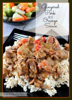 Slow Cooker Gingered Pork with Orange Sauce Recipe# slow cooker healthy recipes-needs modifications for GAPS diet