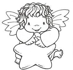 anjos de natal para colorir - Pesquisa Google