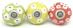 Add our colourful hand painted cupboard knobs to a chest of drawers or kitchen and transform it www.theseplease.co.uk