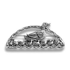 Boston Ducklings Pin in Sterling Silver, Made Exclusively for Shreve, Crump & Low