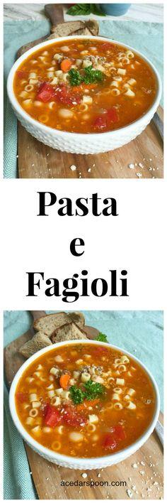 Pasta e Fagioli Soup // A Cedar Spoon