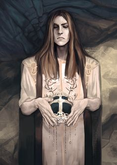 Orodreth, who took over the reins of Nargothrond after the abdication of the throne of Finrod. Art by melkomelko