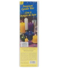 Premium Candle Wax 1.5lb Block-White. YALEY ENTERPRISES-Premium Candle Wax.  This premium quality wax was specially designed for use in molded candles.  It is unsurpassed for this use.  This wax gives superior mold release, smooth and blister free surfaces and the reduced splaying action tends to give a longer burning candle.  If burned continuously it produces attractive foliating designs.  It is the premium wax which many large candle manufacturers use today.  It has a melting...