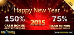 NEW YEAR OFFER AT #IndoRummy !!!  150 % #Cash Bonus On First Deposit !! 75 % Cash Bonus From Second Deposit !!  Hurry Up !! One Day Left !! Register & Play #Rummy and Win Amazing Prizes Only At www.indorummy.com