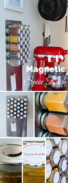 Check out this easy idea on how to make a #DIY magnetic spice rack for #kitchen #homedecor #apartments #budget @istandarddesign