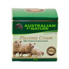 Placenta Cream with Vitamin E & Lanolin – Australian by Nature – 100g   Shop Australia