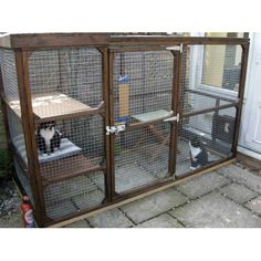 Katy Cat Outdoor Cat Run to keep you cats safe, secure and exercised outdoors whilst getting fresh air, perfect for the smaller garden or on a patio. Designed and manufactured with pride and with the cats and cat owner in mindThe Katy Outdoor Cat Run is 6 feet 2 inches long x 3 feet deep and