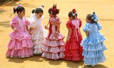 Feria - Sevilla - ninas flamencas