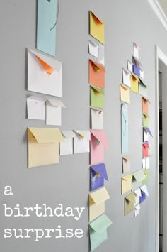 40 envelopes with 40 memories for 40th birthday