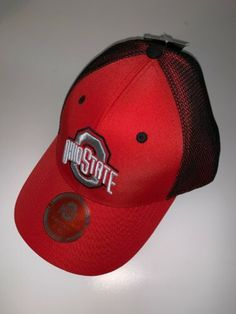 OHIO STATE BUCKEYES OSU HAT CAP NCAA Stretch Fit NWT NEW Size M//L