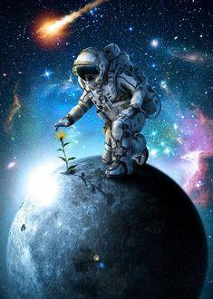wallpaper for android Planets Wallpaper, Wallpaper Space, Retro Wallpaper, Computer Wallpaper, Galaxy Wallpaper, Wallpaper Backgrounds, Art Galaxie, Astronaut Wallpaper, Space Artwork