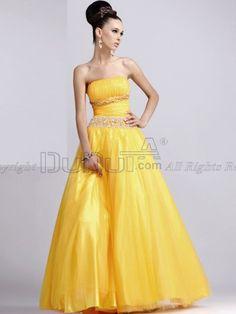 Ball Gown Taffeta Strapless Floor-length Prom/Evening Dresses With Crystal/Rhinestone, evening dress, evening gown, prom dress, prom gown