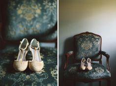 #Brautschuhe in Gold zur Hochzeit