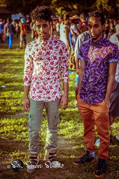 """Solstreet Studio: """"Afro Punk - Twins"""" - New - Punk Afro Punk Fashion, Dope Fashion, Indie Fashion, Urban Fashion, African Inspired Fashion, African Fashion, Coachella Outfit Men, Black Hipster, Well Dressed Men"""
