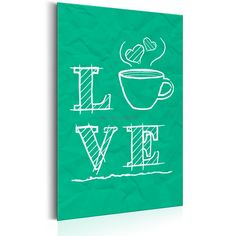 Plakat metalowy - Coffee Lovers: Love Coffee [Allplate]