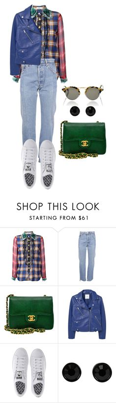 """Senza titolo #2175"" by monsteryay ❤ liked on Polyvore featuring Coach, Vetements, Chanel, MANGO, adidas, Givenchy and Krewe"