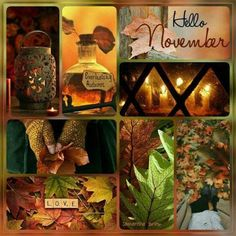 title and close ups Hallo November, Welcome November, November Pictures, November Images, New Month Wishes, Collages, Hades Disney, November Wallpaper, Desenhos Harry Potter