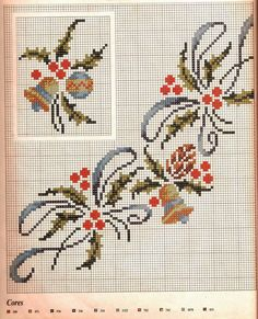 Wreaths - Majida Awashreh - Álbuns da web do Picasa Cross Stitch Christmas Ornaments, Xmas Cross Stitch, Cross Stitch Love, Beaded Cross Stitch, Cross Stitch Borders, Christmas Embroidery, Christmas Cross, Cross Stitch Designs, Cross Stitching
