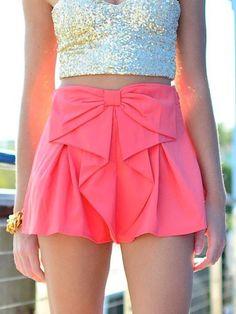 Shorts: pink bow shirt ebony lace ebonylace.storenvy ebonylace-streetfashion bows skirt clothes bows