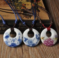 Ethnic-Jewelry-Original-Pendants-blue-and-white-ceramic-Hand-painted-necklace-women-Pendants-Unisex-Colar.jpg (760×758)