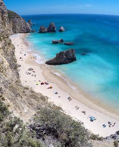 Praia do Ribeiro do Cavalo, Sesimbra Portugal Vacation, Places In Portugal, Visit Portugal, Portugal Travel, Oh The Places You'll Go, Places To Visit, Voyage Europe, Algarve, Amazing Destinations
