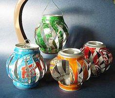 Recycled Soda can DIY Tea lights ...CUTE