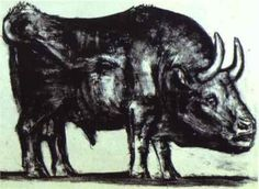 Bull (plate II) - Pablo Picasso, 1945 (Museum of Modern Art, New York, USA), Wikipaintings