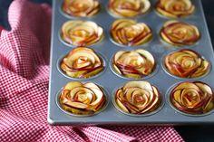 Apple Rose Cupcakes
